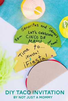 As part of a fabulous collaboration between various party bloggers, we bring you The Party Hop: Summer Fiesta...my contribution, a DIY taco invitation!