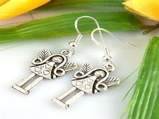 new Wholesale 2 Pair/Lot HOT Charm Fashion Jewellery Silver Girl Stud Earrings