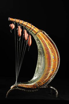 """Glass Art, Davide Salvadore, Artist, Cocoe, blown and carved glass, 12""""hx4""""wx4""""d"""
