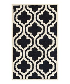 Loving this Black Acadia Wool Rug on #zulily! #zulilyfinds