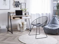 Pair of Metal Chairs Home Desk, Home Office Furniture, Loft Spaces, Living Spaces, Cosy Corner, Bureau Design, Ergonomic Chair, Metal Shelves, Tights