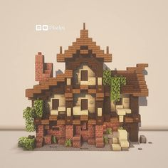 A really diferent and nice block pallette idea for a house By u/Phelps_Builds Plans Minecraft, Minecraft Farm, Minecraft Cottage, Minecraft Castle, Cute Minecraft Houses, Minecraft House Designs, Minecraft Construction, Amazing Minecraft, Minecraft Blueprints