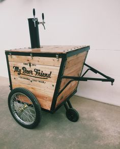 Beer Cart #diy #homebrew #craftbeer Come and see our new website at bakedcomfortfood.com!