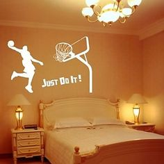 1000 id es sur le th me mur de basket ball sur pinterest autocollant d calc - Deco basketball chambre ...