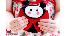 Sew your little girl this felt ladybug coin purse, The ladybug body is the purse, with its head as the flap that covers the opening.Use double layers of felt so it will be able to stand up to repeated use.