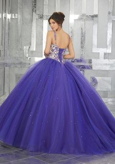 Embroidered A-line Quinceanera Dress by Mori Lee Valencia 60027 Embroidered A-line Quinceanera Dress by Mori Lee Valencia Dresses-ABC Fashion Tulle Balls, Tulle Ball Gown, Ball Gowns, Quince Dresses, Prom Dresses Blue, Wedding Dresses, Purple Gowns, 15 Anos Dresses, Turquoise Quinceanera Dresses