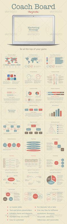 Presentation Templates - Coach Board Keynote Template | GraphicRiver, design, presentation,