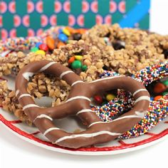Cure your cravings for sweet and salty all in one gourmet pretzel package.  #chocolatecovered #coveredpretzel #dylanscandybar
