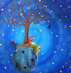Https://www.facebook.com/cuadritos.decolores.7 www.cuadritosdecolores.blogspot.es https://www.facebook.com/cuadritos.decolores.7  #elprincipito #zorro #rosa #pintura #acrílico #mixedmedia #art #arte #artesanía #Cuadritosdecolores #cuadro #cute #arboldelavida  #regalo #triptico #handmade #pintadoamano