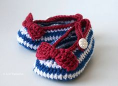 Crochet Pattern Nautical Baby Boots pattern crochet baby shoes, crochet slipper pattern #crochetbaby #crohetbooties