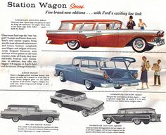 1957 Ford Station Wagons