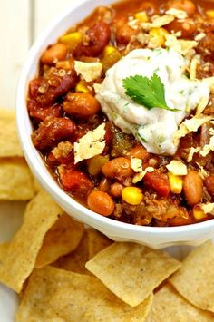 Easy, One-Pot Taco Soup. Because it's Fall and time to start wearing jeans again!