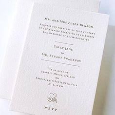 debossed wedding invitations - Google Search
