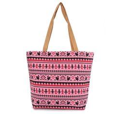 Women Bohemia Canvas Casual Simple Handbag