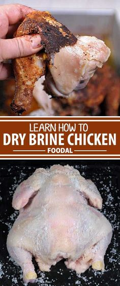Are ready for the meatiest, juiciest, bird meat that you've ever had? Looking for that perfect crispy skin? Are your poultry dishes coming out too dry? We have the answer. Try dry brining. It's easy, simple, and guaranteed to lock in flavor and juices whe Brining Meat, Dry Brine Turkey, Smoked Turkey, Roasted Turkey, Simple Turkey Brine, Pork Rib Recipes, Turkey Recipes, Chicken Recipes, Smoker Recipes