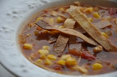 Chicken tortilla soup. I would eat this every single day of winter if I could.