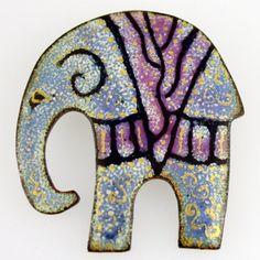 Enamel Elephant Brooch by LindaC1997 on Etsy, $42.00