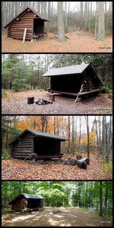 The largest collection of lean-to pictures ever (probably) (image heavy) - Adirondack Forum Shelters In The Woods, Cabins In The Woods, Diy Camping, Camping Meals, Homestead Land, Colorado Cabins, Camping Shelters, Lean To Shed, Montana Homes