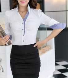 Blouses For Women Cute Blouses For Work, Blouses For Women, Women's Blouses, Stylish Shirts, Simple Shirts, Cheap Womens Tops, Work Blouse, Pretty Outfits, Pretty Clothes