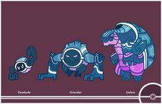 Pokemon Redesigns #074-075-076 - Geodude, Graveler, Golem. Gotta say, I like these designs much more than the og's.