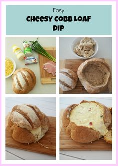 Cheesy Cobb Loaf Dip collage