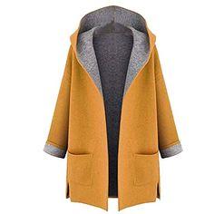 Abbigliamento Donna Invernale ASHOP Donna Lungo Giacca Slim Fit Inverno  Cappotto Abbigliamento Donna Autunno Inverno Giallo 619f9217c8b
