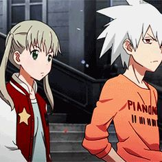Soul Eater Not 07 - Maka and Soul being otp kawaii as fuck (/≧▽≦)/~┴┴