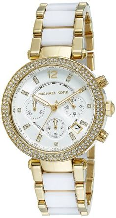af6eea0f96a Michael Kors Women s Parker Chronograph Two Tone Stainless Steel (Silver)  Watch MK6119 Stylish Watches