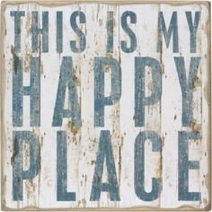 Happy Place Decorative Box Sign from Paper Source. Love this for an entrance way to a home.