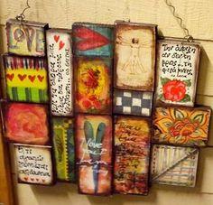 ΞΥΛΙΝΟ, ΧΕΙΡΟΠΟΙΗΤΟ, ΣΥΝΘΕΣΗ-ΚΟΛΛΑΖ!!! Canvas Ideas, Canvas Art, Painted Bottles, Bottle Painting, Inspiring Art, Journal Ideas, Wooden Signs, Journaling, Decoupage