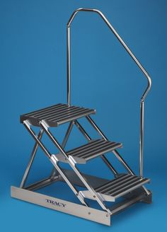 Best 3 Step Folding Dock Step Steps For Showrooms And Boat 400 x 300