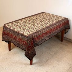 Indian Decorations Summer Floral Cotton Tablecloth Rectangular 152 X 228 by ShalinCraft, http://www.amazon.co.uk/dp/B00BLI6G0I/ref=cm_sw_r_pi_dp_qyBjsb18TZEHG