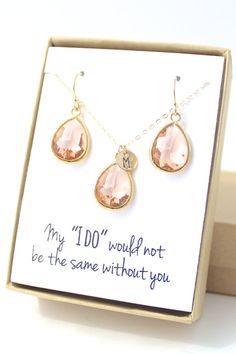 """""""My 'I Do' Wouldn't Be The Same Without You"""" (Awwww!) The perfect bridesmaids gift from For The Maids"""