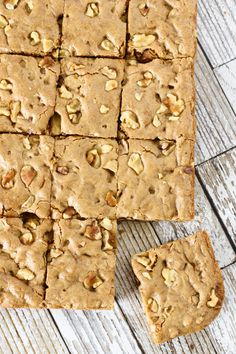 Maple Walnut Blondies | Gluten Free & Vegan
