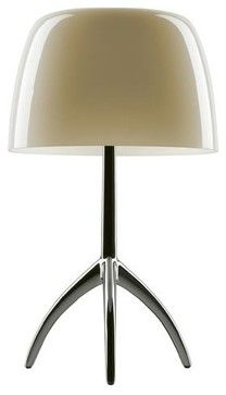 Foscarini | Lumiere 05 Piccola Table Lamp modern-table-lamps $536    Houzz    YLiving.com    black or alum. base whte, amber, ivoryor gray diffuser