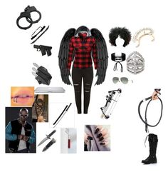 """My SuicideSquad Life"" by alexys0612 ❤ liked on Polyvore featuring New Look, Miss Selfridge, S.W.O.R.D., Ray-Ban and Plukka"