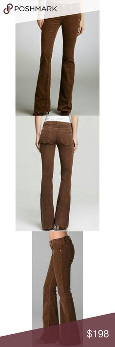 """Conning Soon Rag & Bone These corduroy flare pants feature 5-pocket styling and a single-button closure. 20"""" leg opening.  8"""" rise. 34"""" inseam. Fabrication: Stretch corduroy. 96% cotton, 4% spandex. Wash cold. Made in the USA. rag & bone Pants Boot Cut & Flare"""