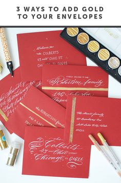 I Still Love You by Melissa Esplin: DIY: 3 Ways to Add Gold to Your Envelopes