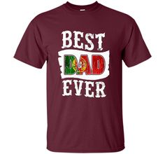 Men's Best Dad Ever Father's Day T-Shirt Portuguese Flag Portugal