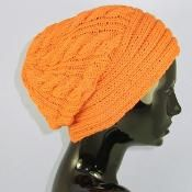 Rib Band Cable Slouch hat - via @Craftsy