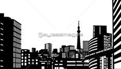 都会のビル群の写真・イラスト素材 (gf1420430616) │ペイレスイメージズ