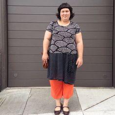 A little bit Giants and a little bit Halloween #100actsofsewing handmade wardrobe - Marimekko t-shirt (yes it really exists!), dress made from a CP Shades skirt, and super bright linen-blend pants #handmadewardrobechronicles