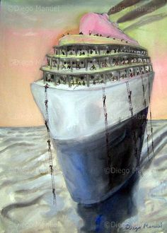 """""""El barco """", acrylic on canvas,44 x 61 cm. year 2008 Price of original painting: inquire"""