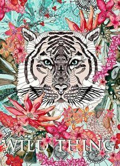 Wild Thing als Leinwandbild von Monika Strigel | JUNIQE