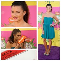 """Danica Patrick at Kids Choice Awards! She won """"Best Female Athlete"""". Makeup by me."""