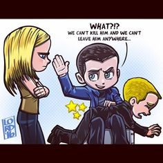"Lordmesa Art —How to disicpline someone else's child: A guide by Leonard Snart, foreword by Sara Lance. ""Discipline"" Leave it to Leonard!!!..."