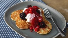 Scotch pancakes are really easy and fun to make, they are perfect for breakfast served with blueberries, drizzled with syrup or simply spread with butter.