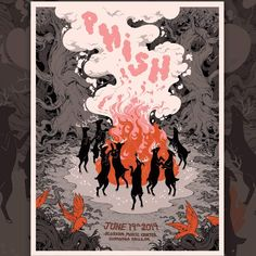 Phish Posters, Movie Posters, Blossom Music Center, Cuyahoga Falls, Brand Board, Fill, Songs, Art, Art Background