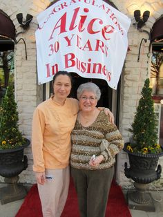Anna Maria Santorellia, Owner of Ann Maria's Restaurant and Alice Giunta, Owner of Alice's Silver Canvas