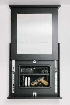 Series 1410 Lockable Mirror Opened.
